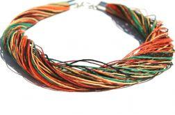 Naszyjnik lniany kolor 1