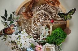 dekoracyjny tamborek z oknem
