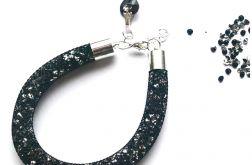 Błyszcząca bransoletka w czerni Stardust25