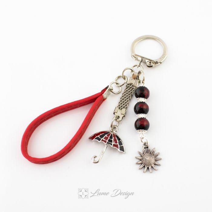 Brelok do kluczy lub torebki czerwony Weather