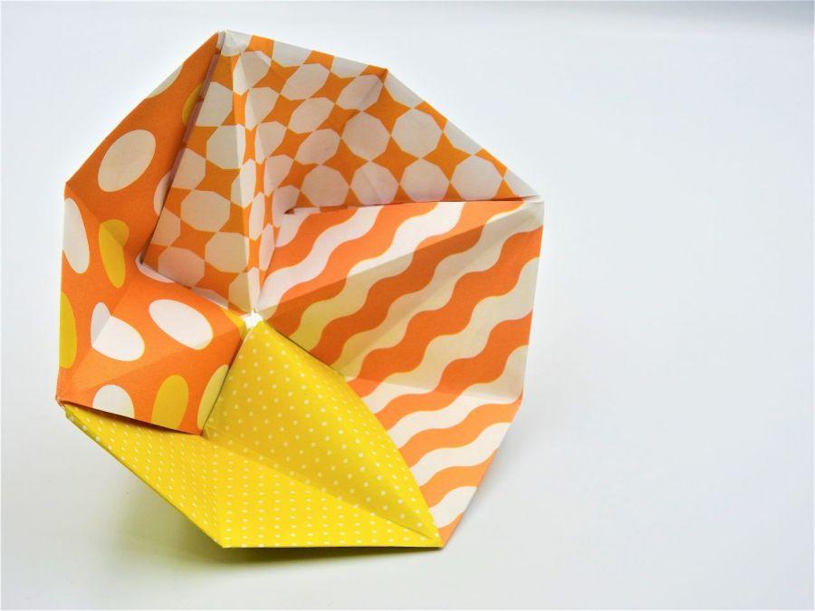 Geometryczna miseczka origami we wzory - 2
