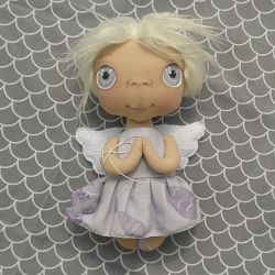ANIOŁEK lalka - dekoracja tekstylna, OOAK/34