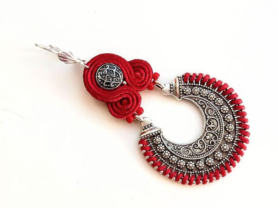 Kolczyki sutasz Orient - Red