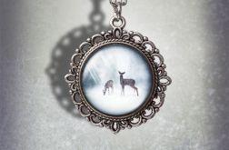 Medalion Sarny - Little deers - romantyczny