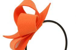 Fascynator pomarańczowy 13cm opaska