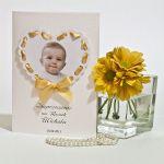 Zaproszenie chrzest roczek zdjęcie efekt 3D -