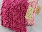 Komplet różowych poduszek