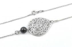 Srebrna bransoletka ETHNIC z perłą