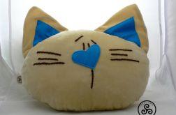 """Poduszka """"Głowa kota""""(beżowa)"""