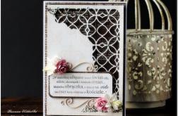 Ażurowy narożnik- ślubna karta #3