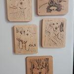 magnesy drewniane z obrazkiem ze zdjecia