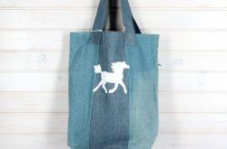 Ekologiczna torba dżinsowa koń