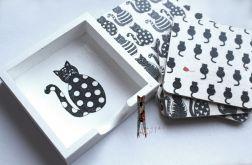 Podkładki pod kubki z kotkami Miau
