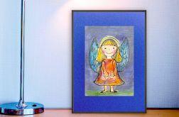 Aniołek  obrazek ręcznie malowany - 2