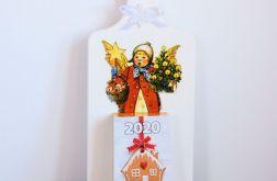 Deseczka z kalendarzem - Świąteczny aniołek