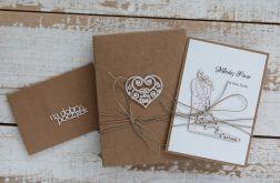 Oryginalna kartka ślubna i pudełko a9