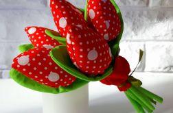 Bukiet tulipanów ~ czerwone i grochy