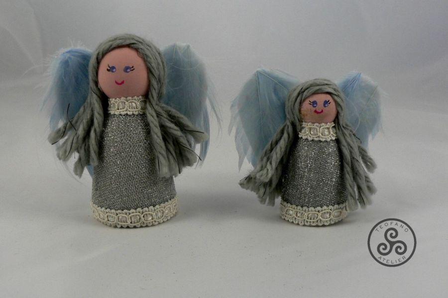 Dwa aniołki (srebrne)