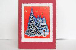 Bordowa kartka świąteczna 2