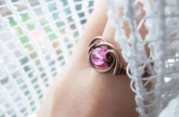 Pink Flame Ring