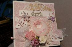 *kartka różowa na chrzciny*
