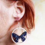 Kolczyki malowane, Motyle w turkusie