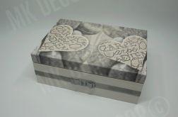 Drewniana szkatułka/pudełko prostokątne