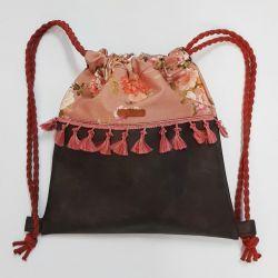 Plecak worek dla dziewczynki pompony bawełna