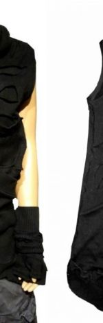 Bluza bezrękawnik czarny Unisex