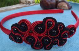 Czarno- czerwona opaska Sutasz