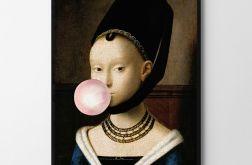 Plakat dziewczyna z balonem 50X70 B2