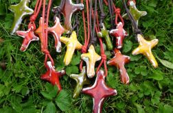 bajecznie kolorowe krzyżyki ceramiczne