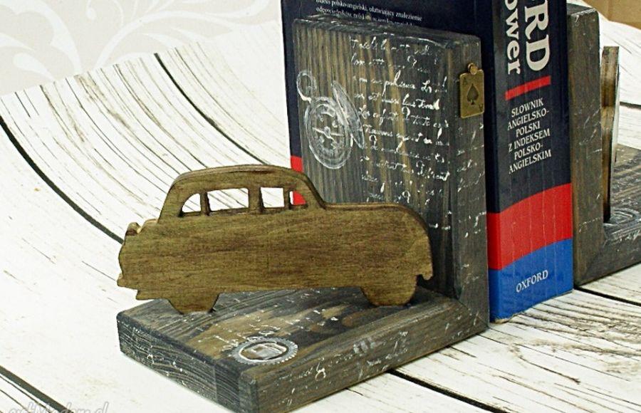 Podpórki do książek - retro podróże