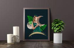 Kolaż A3 - Księżycowa dziewczyna