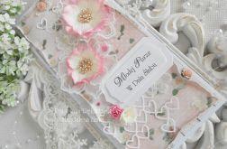 Ślubna kartka DL w pudełku z okienkiem 32