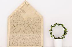 Księga gości -drewniany domek