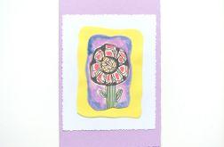 Kartka kwiatek malowany nr 15