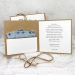 Kartka na ślub eko minimalistyczna w pudełku - Kartka na Ślub w pudełku eko zielona minimalistyczna (3)