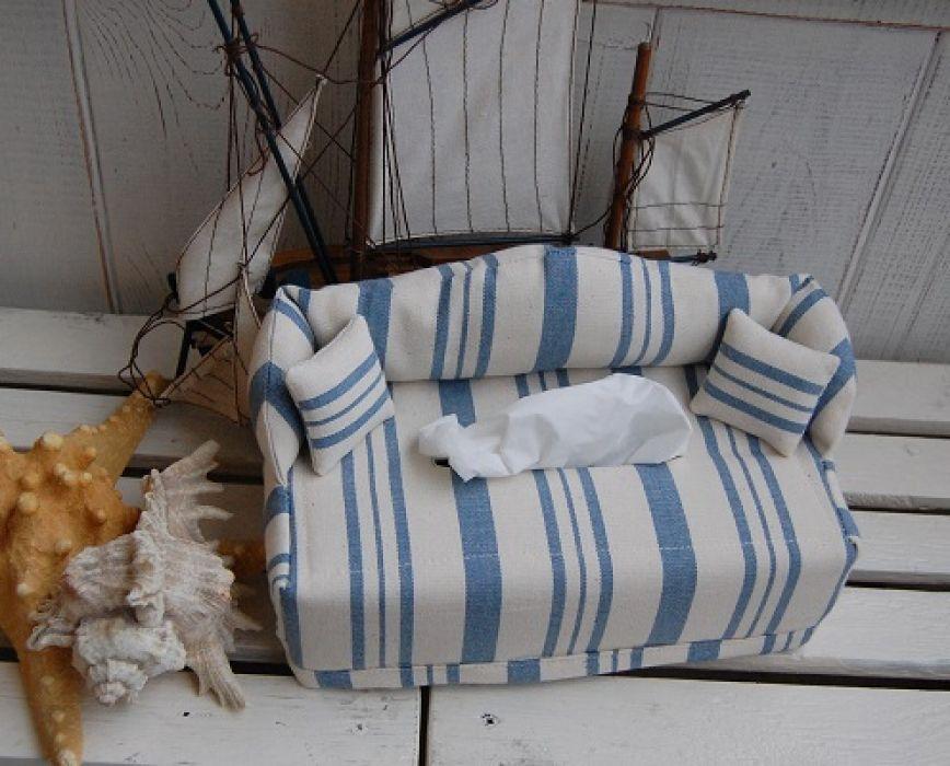 Kanapa w stylu marine - chustecznik - kanapa marynistyczna