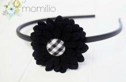 BLACK LADY Opaska z kwiatkiem