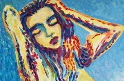 obraz olejny ekspresjonizm akt kobiecy
