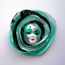 Broszka Masquerade - Miętowa Królowa