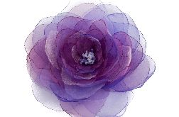Broszka przypinka kwiat 15 cm, fiolet