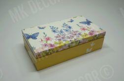 Drewniana szkatułka prostokątna - wiosenna