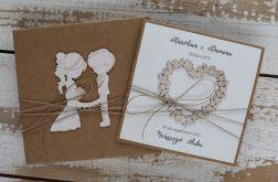 Oryginalna kartka ślubna i pudełko rt5