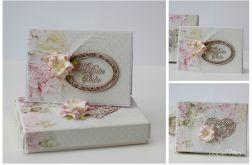 Kartka z pudełkiem zestaw ślubny C2