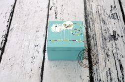 pudełko mini turkusowe