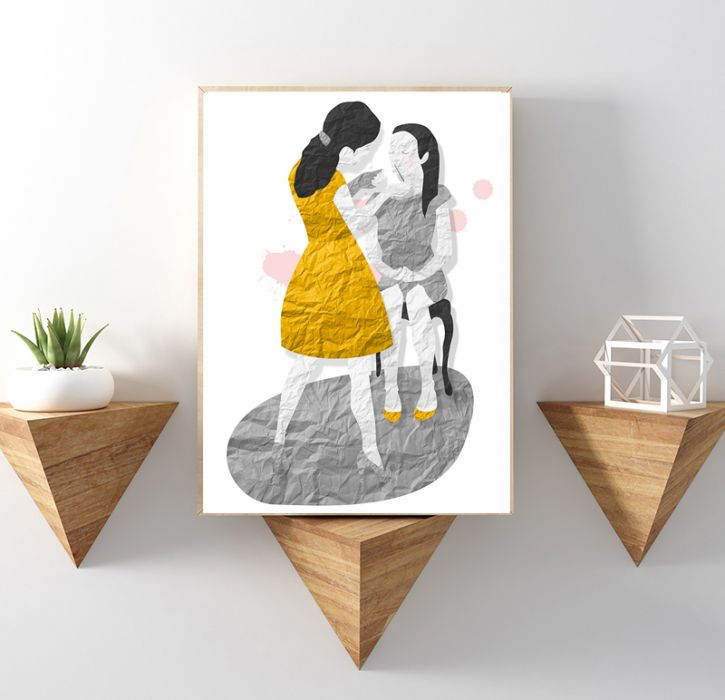 mama i córka... art print a4