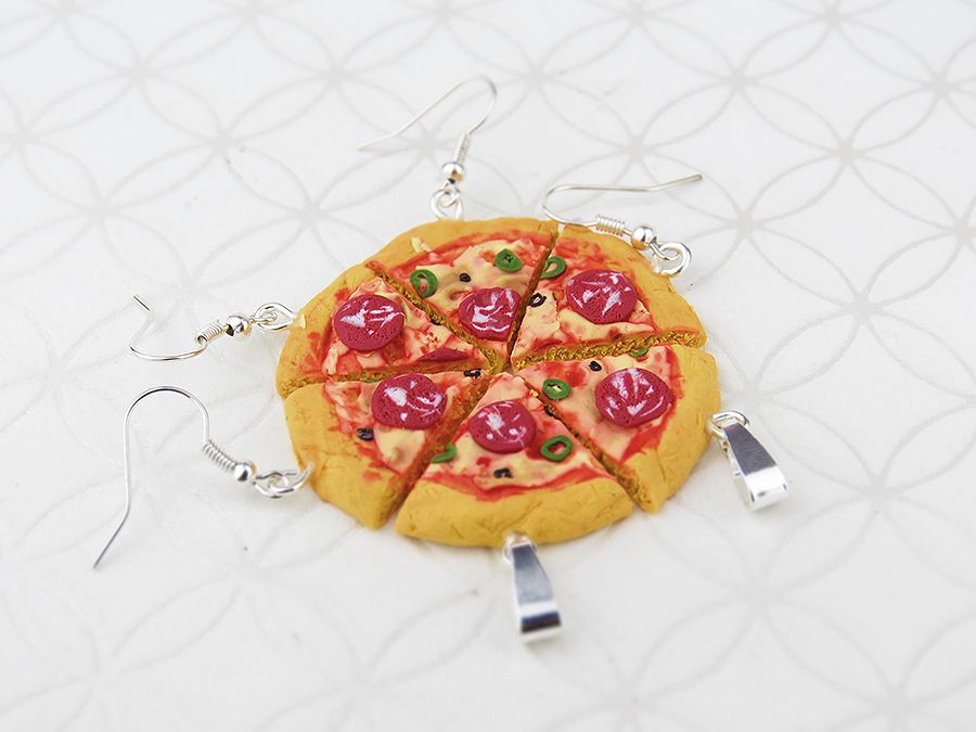 Pizza, oryginalne kolczyki, super efekt