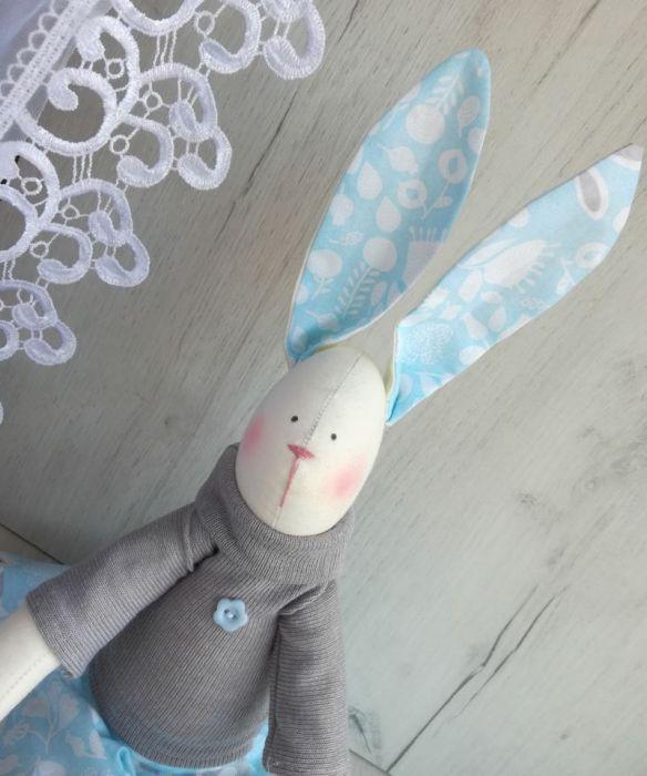 Króliczek Tilda 48cm w niebieski